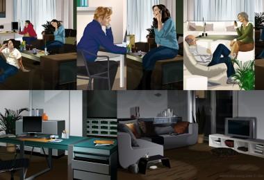 Jan Essig Vektor  Illustration Produkt Einführung Siemens